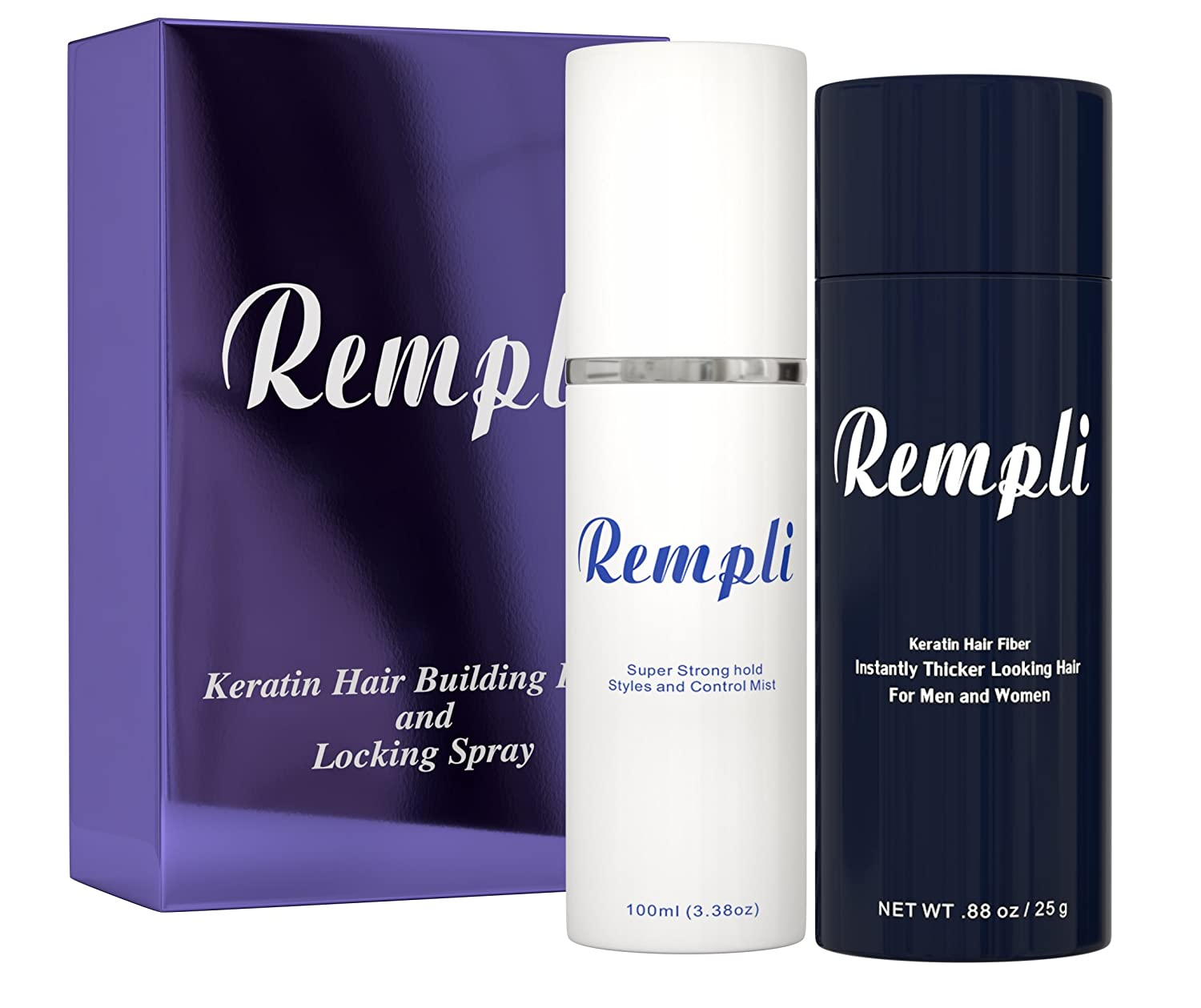 Rempli Keratin Hair Fiber and Holding Spray- (Medium Brown)