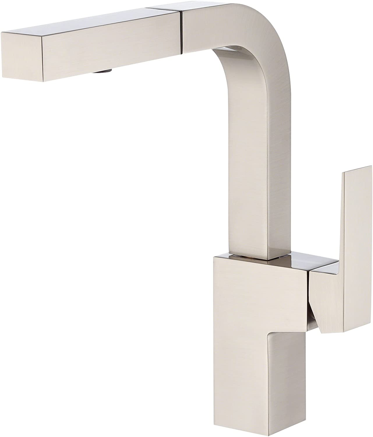 Danze Mid-Town Single Handle Pull Down Kitchen Faucet with SnapBack Retraction,Stainless Steel