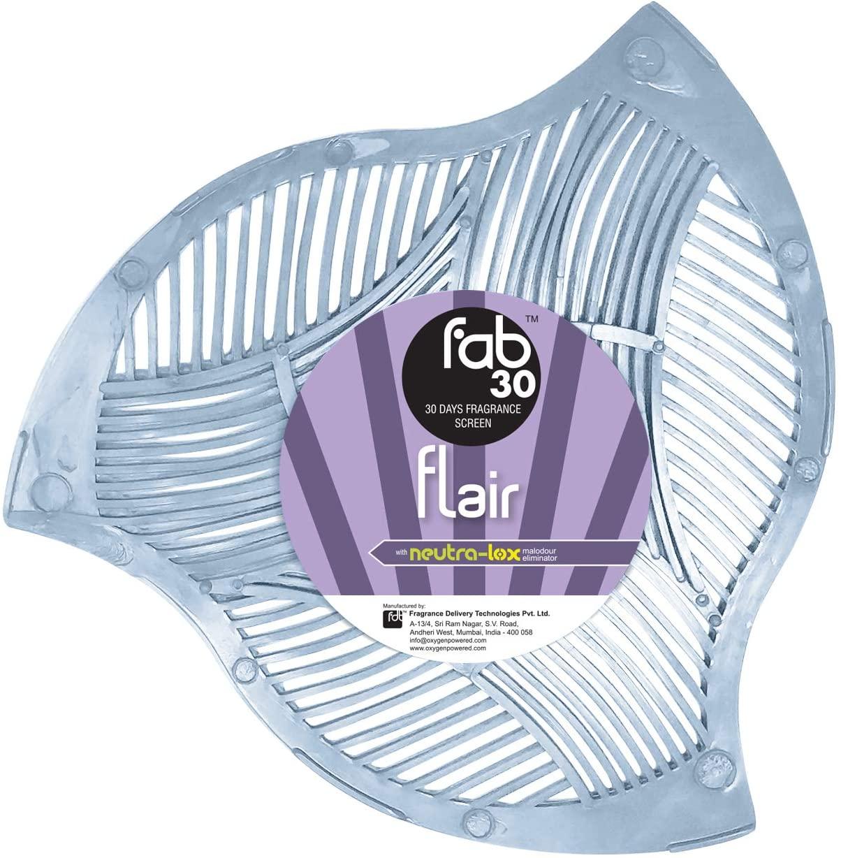 Oxygen-Pro - FAB 30 Urinal Screen Deodorizer, Urinal Mat, Splash Urinal Screen with 30 Day Fragrance Screen, Flair, Pack of 12