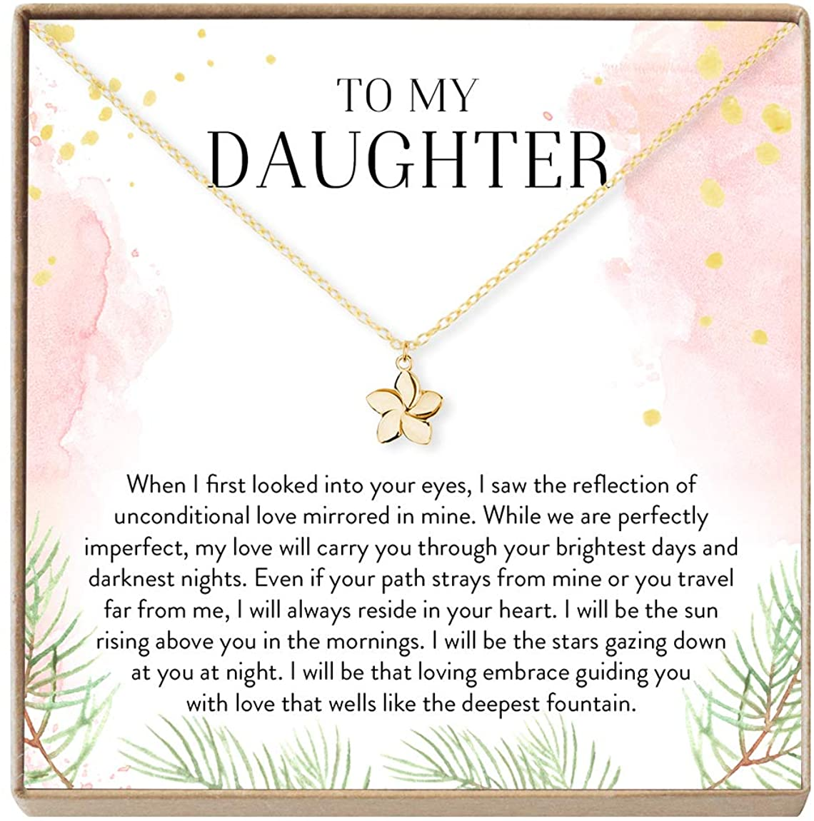 Daughter Necklace - Heartfelt Card & Jewelry Gift for Birthday, Holidays & More