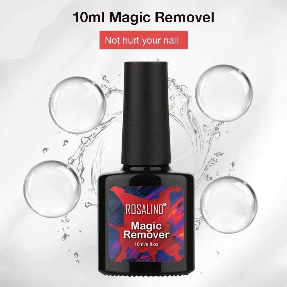 Heitaisi Nail Polish Remover, Soak-Off Gel Polish Remover Professional Removes Gel Polish, 10ml