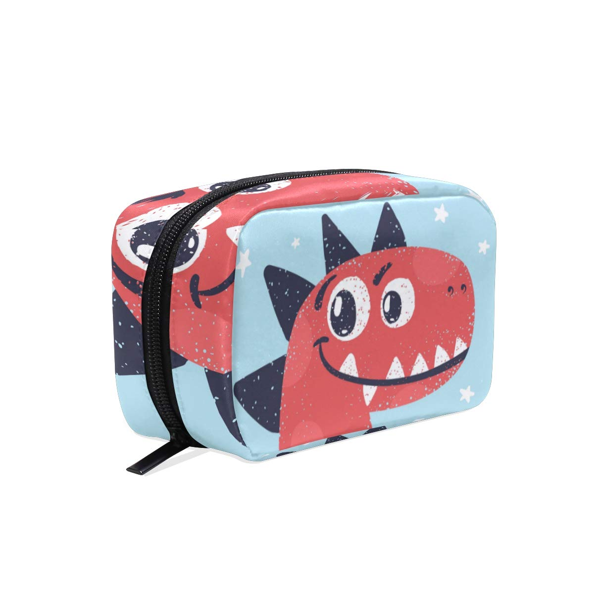 Women's Makeup Cosmetic Bag Cute Dinosaur Makeup Pouch for Travel Cosmetic Pouch Purse(904g)