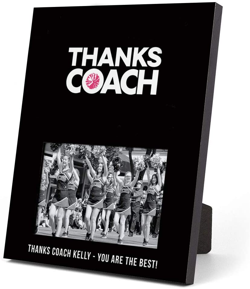 ChalkTalkSPORTS Personalized Cheerleading Photo Frame | Coach (Autograph) Picture Frame | Black