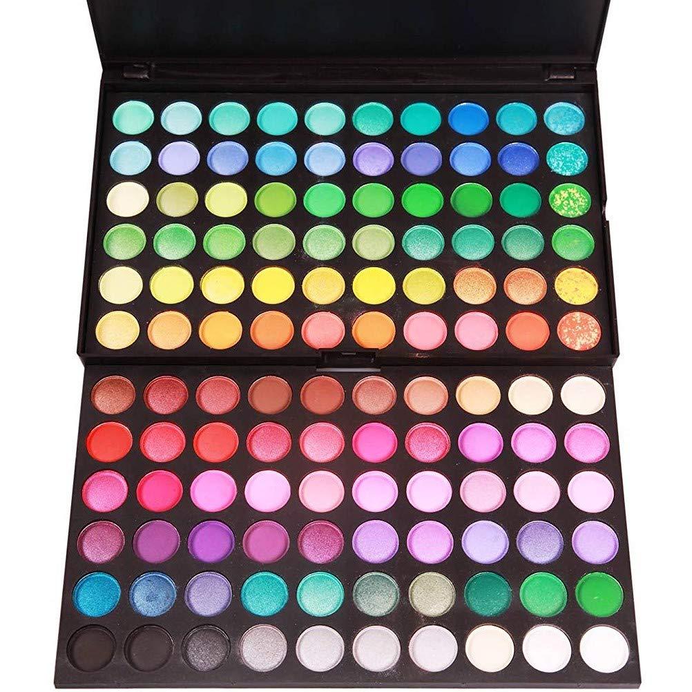 Onwon 120 Colors Makeup Eyeshadow Palette Natural Nude Matte Shimmer Glitter Pigment Eye Shadow Pallet Waterproof Smokey Professional Cosmetic Beauty Kit Set