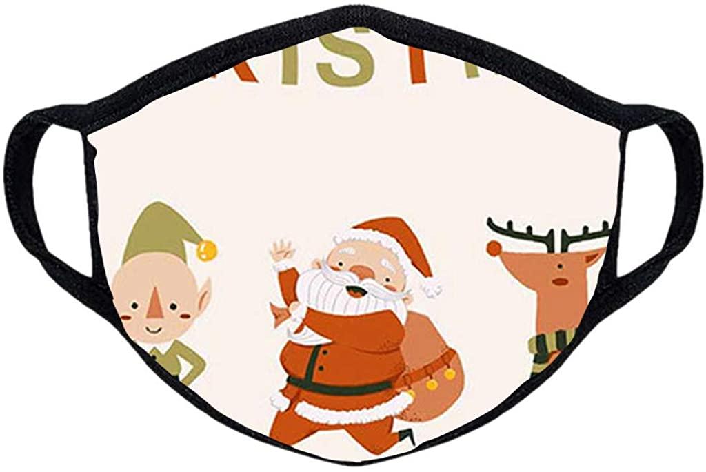 1PC Christmas Funny Animal Printed Couple Adults Cycling Reusable Breathable Fashion AdjustableWashable Cloth Face_Mask