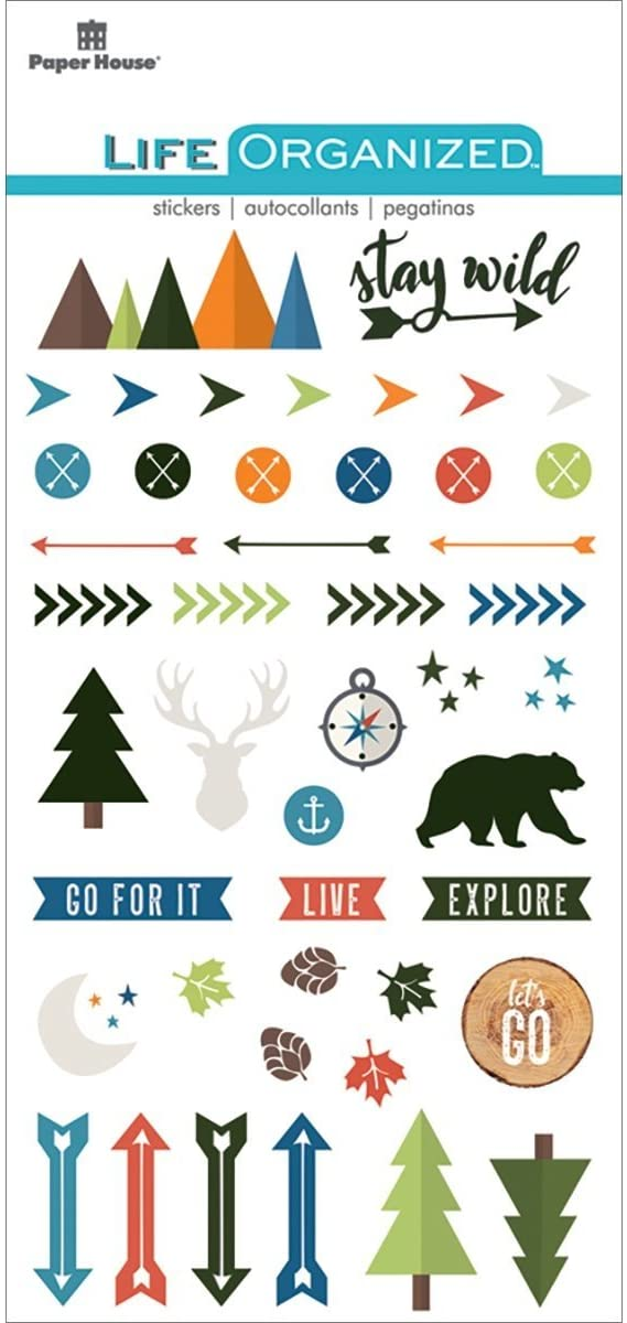 Paper House Productions STCP-1001 Outdoors Epoxy Stickers, 3-pack