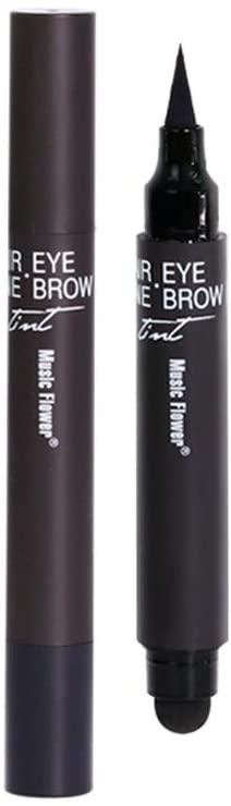 FunDiscount Waterproof Liquid Eyebrow Pencil - Multi-Functional 3-in-1 Hairline Repair Ultra Fine Carved Eybrow Pencil Eyeliner - Long Lasting Smudge-Proof Makeup Micro Brow Pencil (Black)