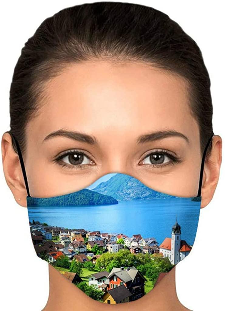 1PCS Halloween Funny Printed Cloth Face_Mask Adults Adjustable Fashion Reusable Breathable Washable Cycling Bandanas