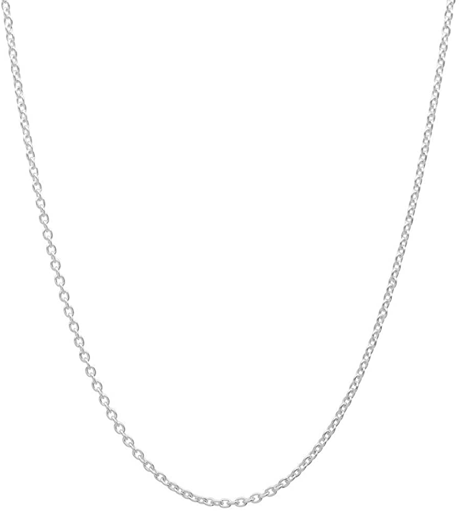 Pori Jewelers Genuine Platinum 950 Solid Diamond Cut Anchor Chain Necklace -1.5mm Thick - Available in 16