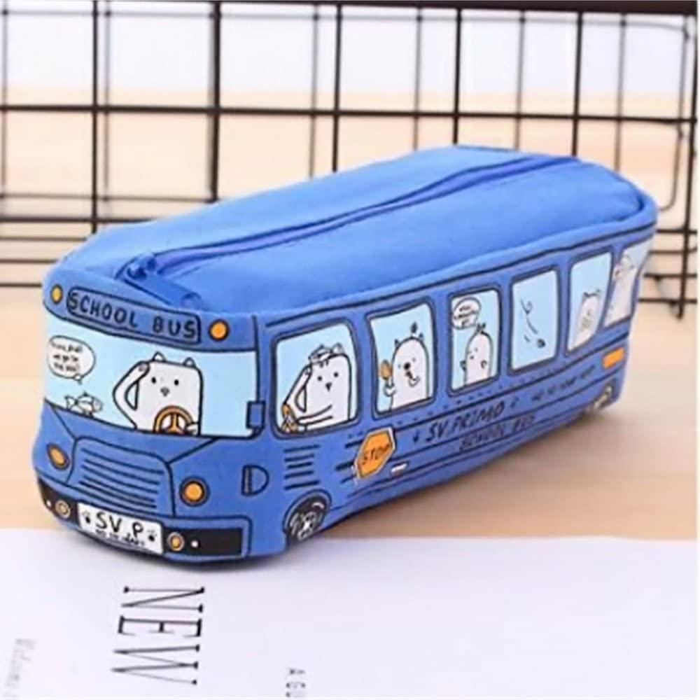 Skort Pencil Cases Cute School Bus Pencil Case for Kids Cute School Supplies Kawaii Stationary Bag for Boys Grils