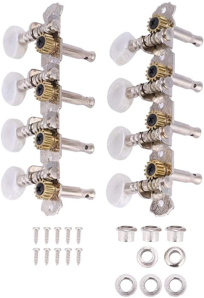 Rockyin Mandolin Machine Heads String Tuning Pegs 4L4R for Mandolin Instruments Accessory