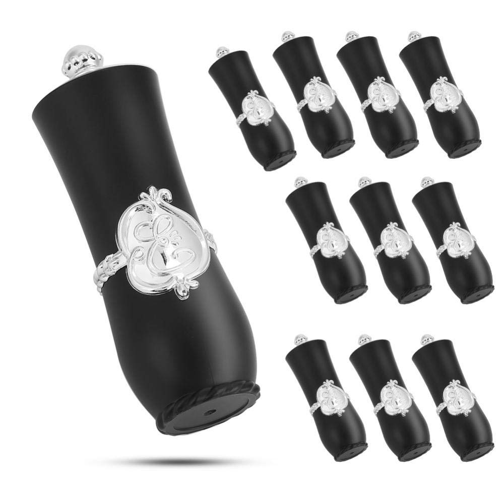 Exquisite empty lipstick tubes, royal style lip balm(Ten opp bags, Court tube black)