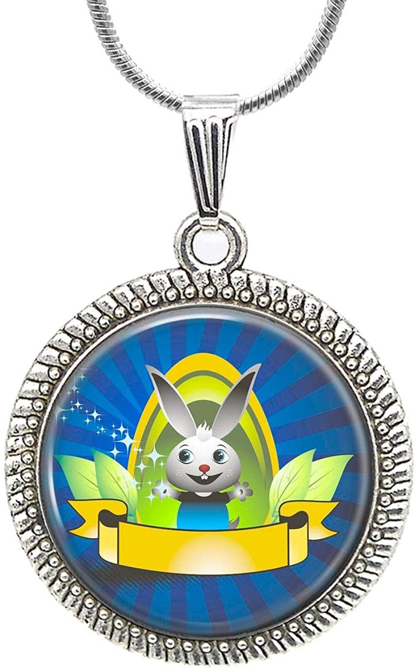 Custom Bunny Necklace Animal Rabbit Pendant Wild Animals Jewelry Christmas Lover Gift