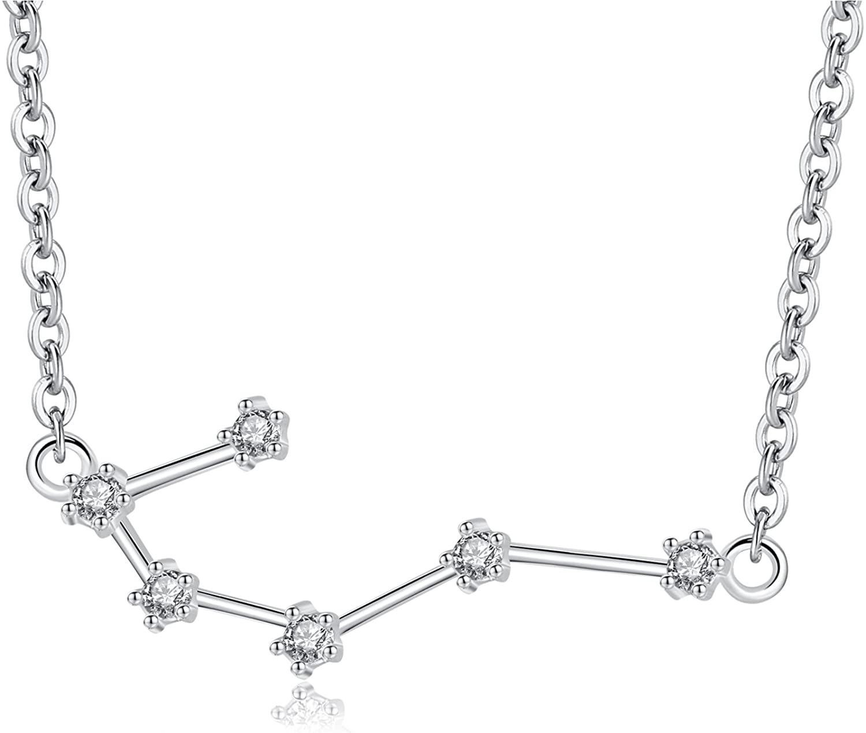 VIKI LYNN Zodiac Constellation Necklace Horoscope Jewelry for Women