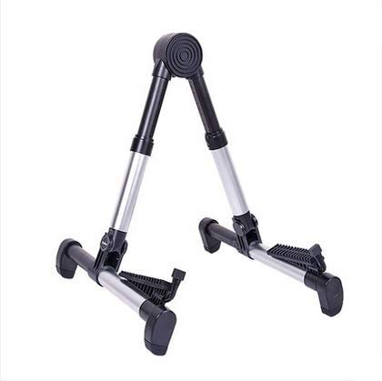 SQINAA Guitar Stand for Folding Travel Acoustic Electric Classical Bass Gray Aluminum