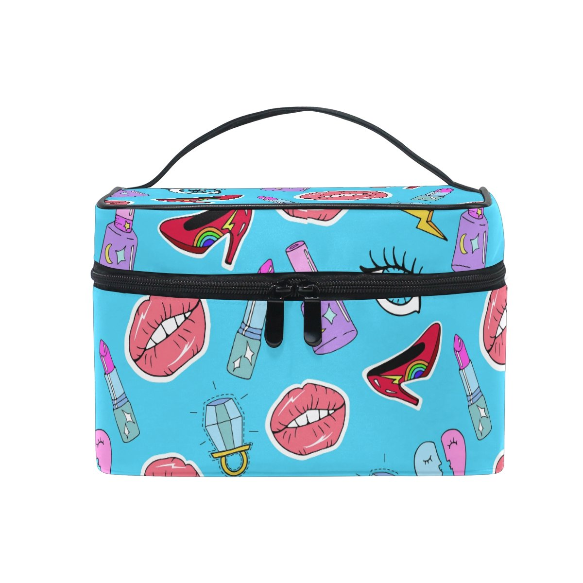 Makeup Bag Eye Lipstick Heels Travel Cosmetic Bags Organizer Train Case Toiletry Make Up Pouch