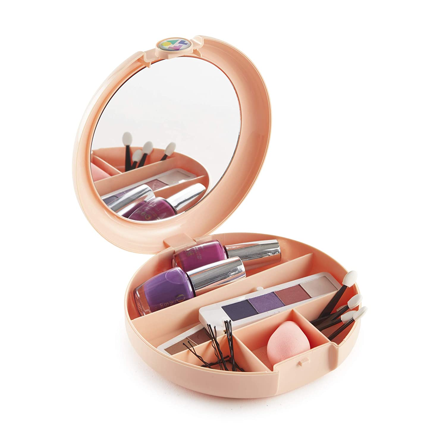 Caboodles Cosmic Cosmetic Retro Compact, Peach
