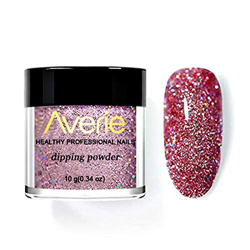 Holographic Dip Nail Powders, Gradient Dipping Glitter Decoration Lasting than UV Gel Natural Dry Without Lamp Cure (N06)