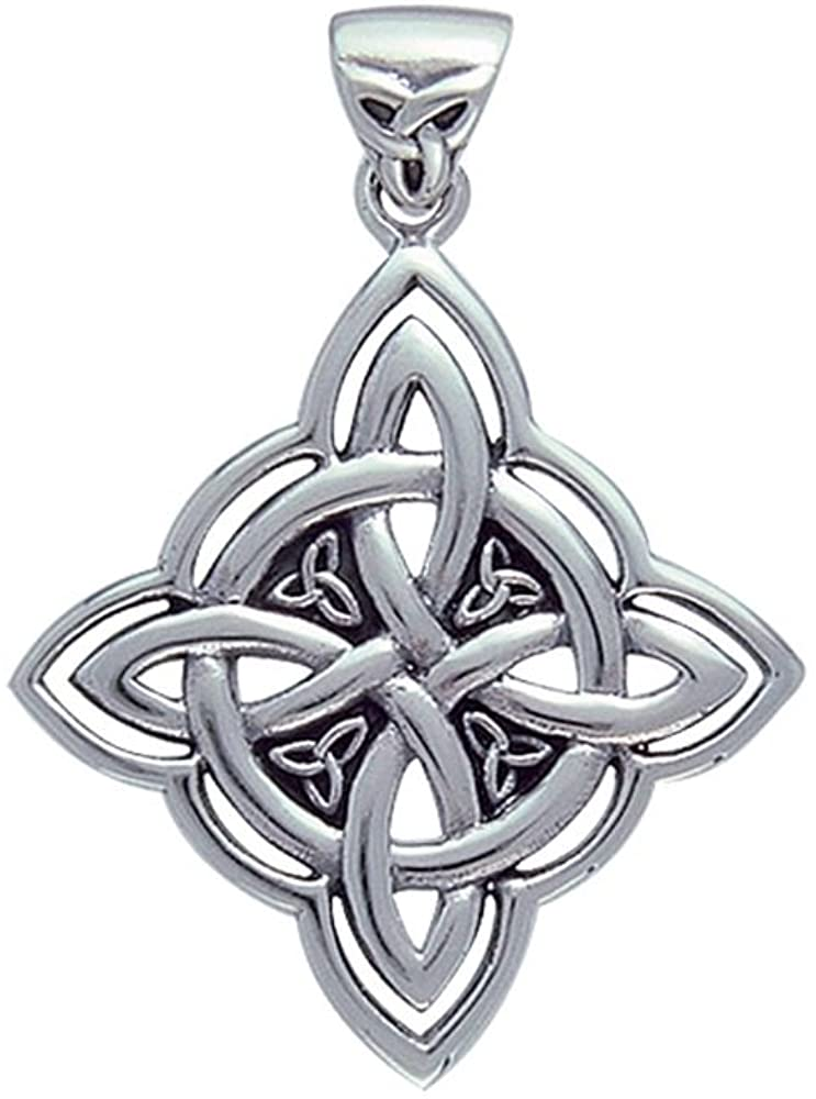 Jewelry Trends Celtic Trinity Knot Sterling Silver Pendant with Circle of Life