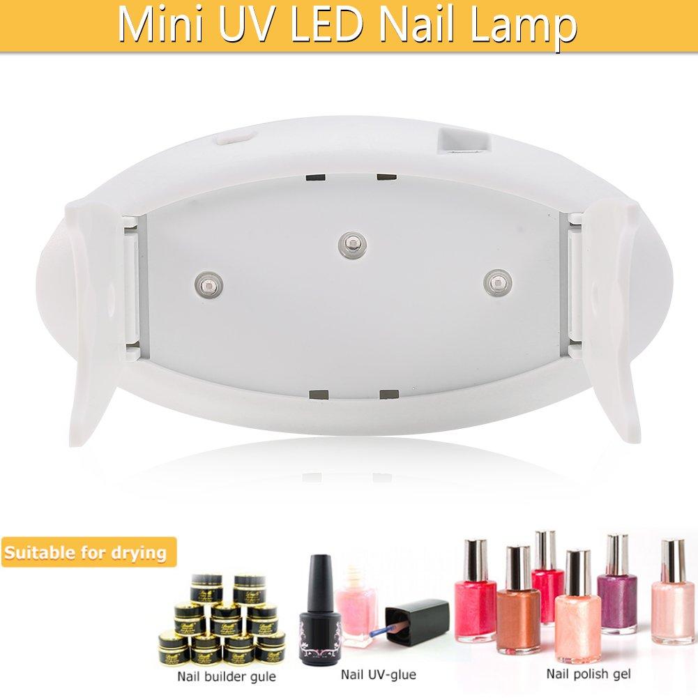 Dryer for LED lamp, UV light for nails - 9W for gel polish, Mini/Fashionable(Blue)