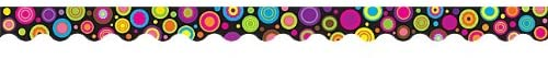 Teacher Created Resources Colorful Circles Scalloped Border Trim (5157)