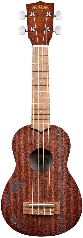 Kala Mahogany KA-15S-H2 Soprano Ukulele (Hawiian Islands with Tattoo Band)