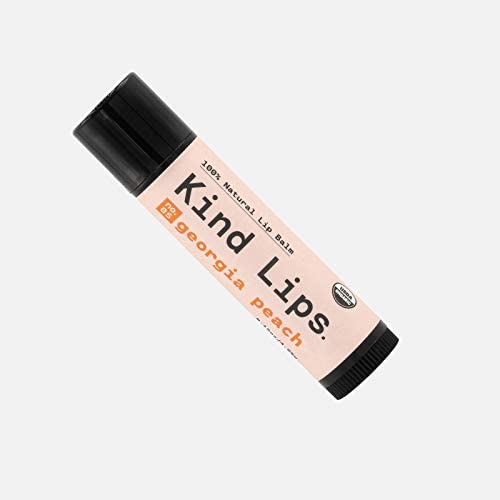 Kind Lips Organic Lip Balm | Georgia Peach No. 05 Single 0.15oz | All-Natural Chapstick