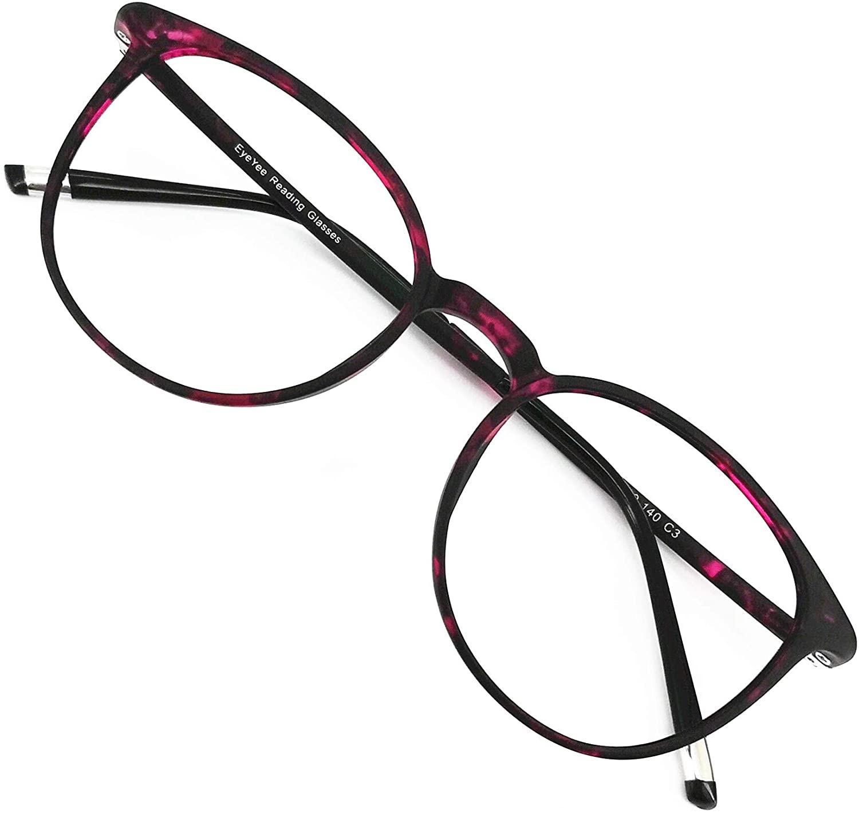 Reading Glasses Round Computer Readers for Women Men Eyeglasses Frames Lightweight