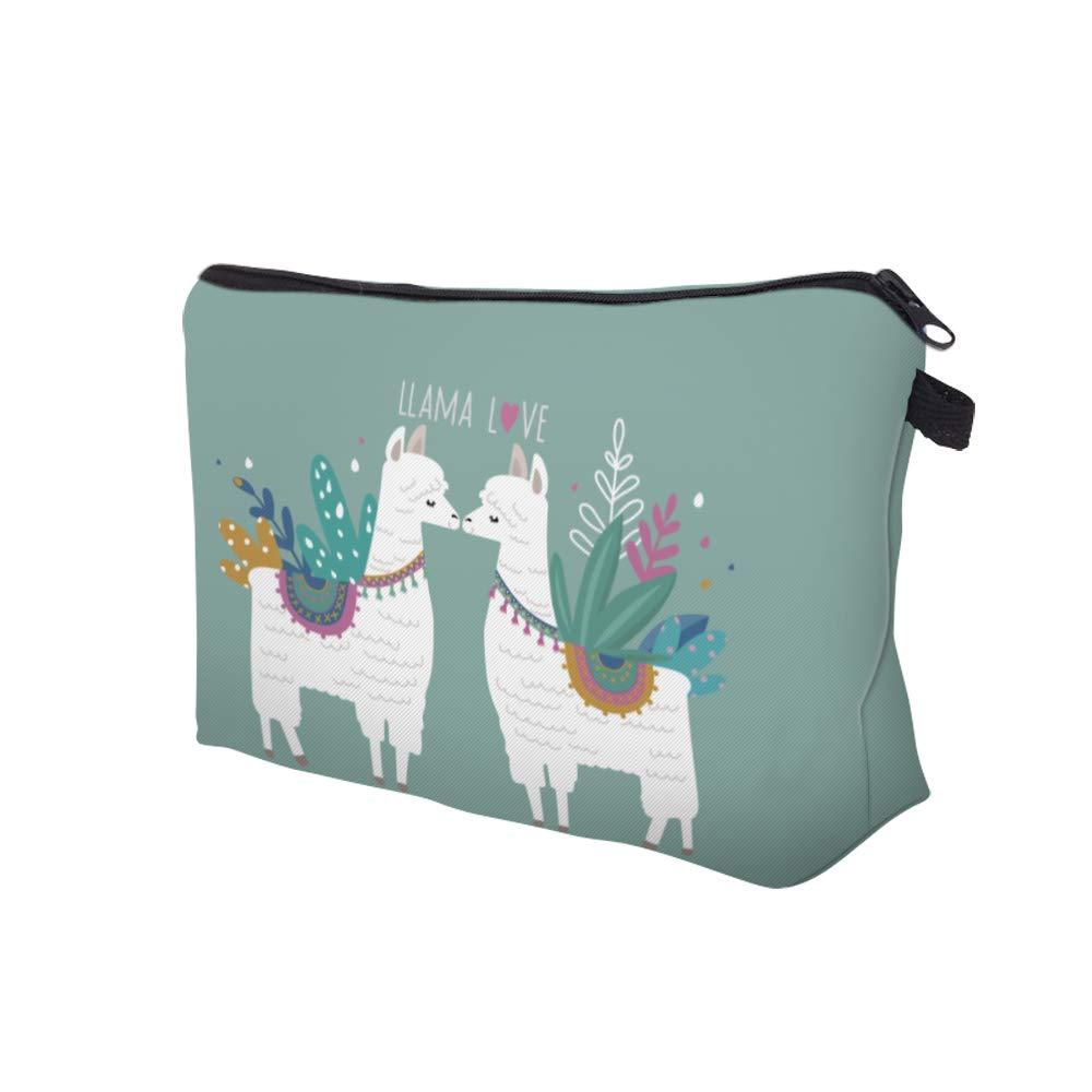 Makeup Bag Toiletry Bag Travel Bag Portable Cosmetic Bag Makeup Brushes Bag Waterproof Organizer Bag for Women Girls Men (Liama Love)