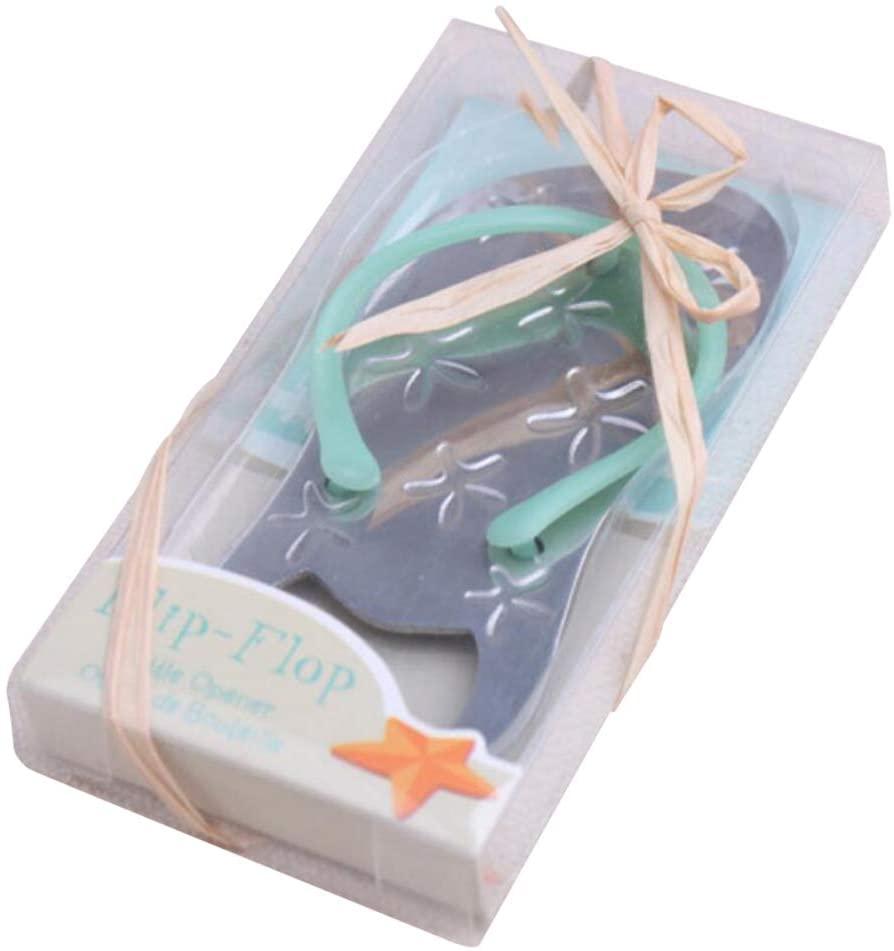 Pop the Top Flip-Flop Starfish Bottle Opener For Wedding Party Favor Gift (100, Blue)