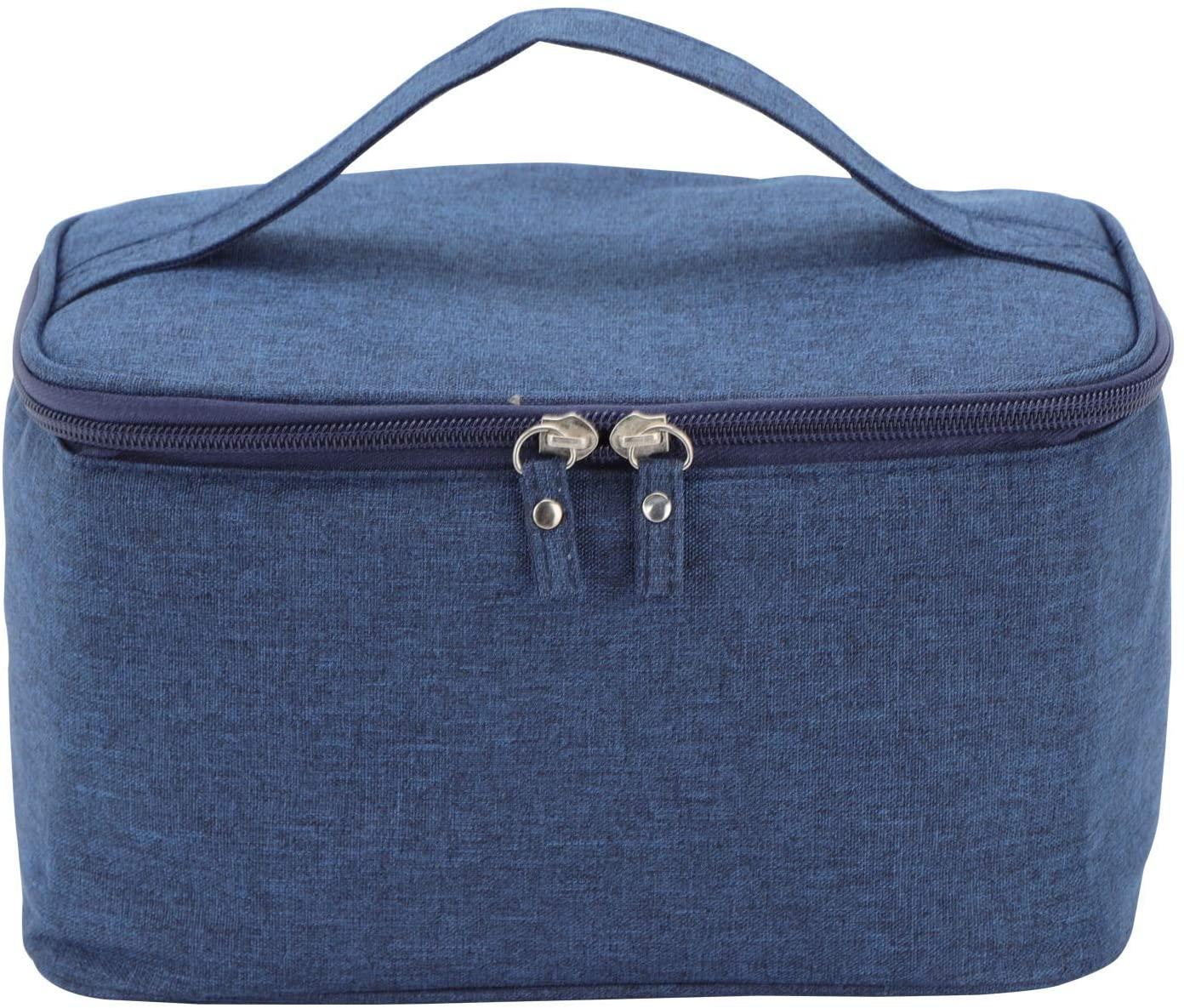 MorNon Makeup Bag Makeup Organizer Bag Travel Makeup Bag Large Cosmetic Bag for Women and Men (Navy)
