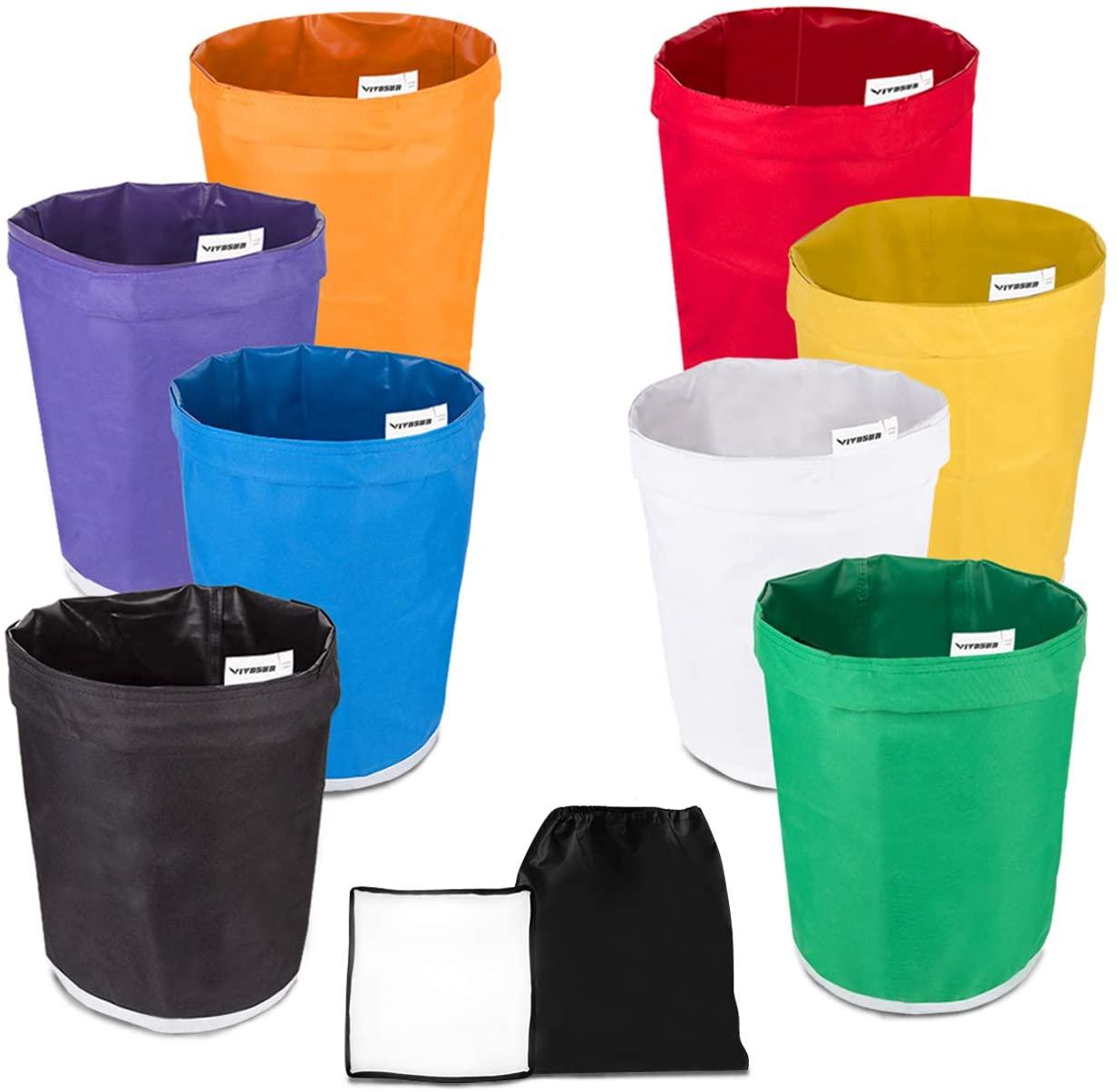 VIVOSUN 1-Gallon 8-Bag Herbal Ice Bubble Hash Bag Essense Extractor Kit Filtration Bags/Set