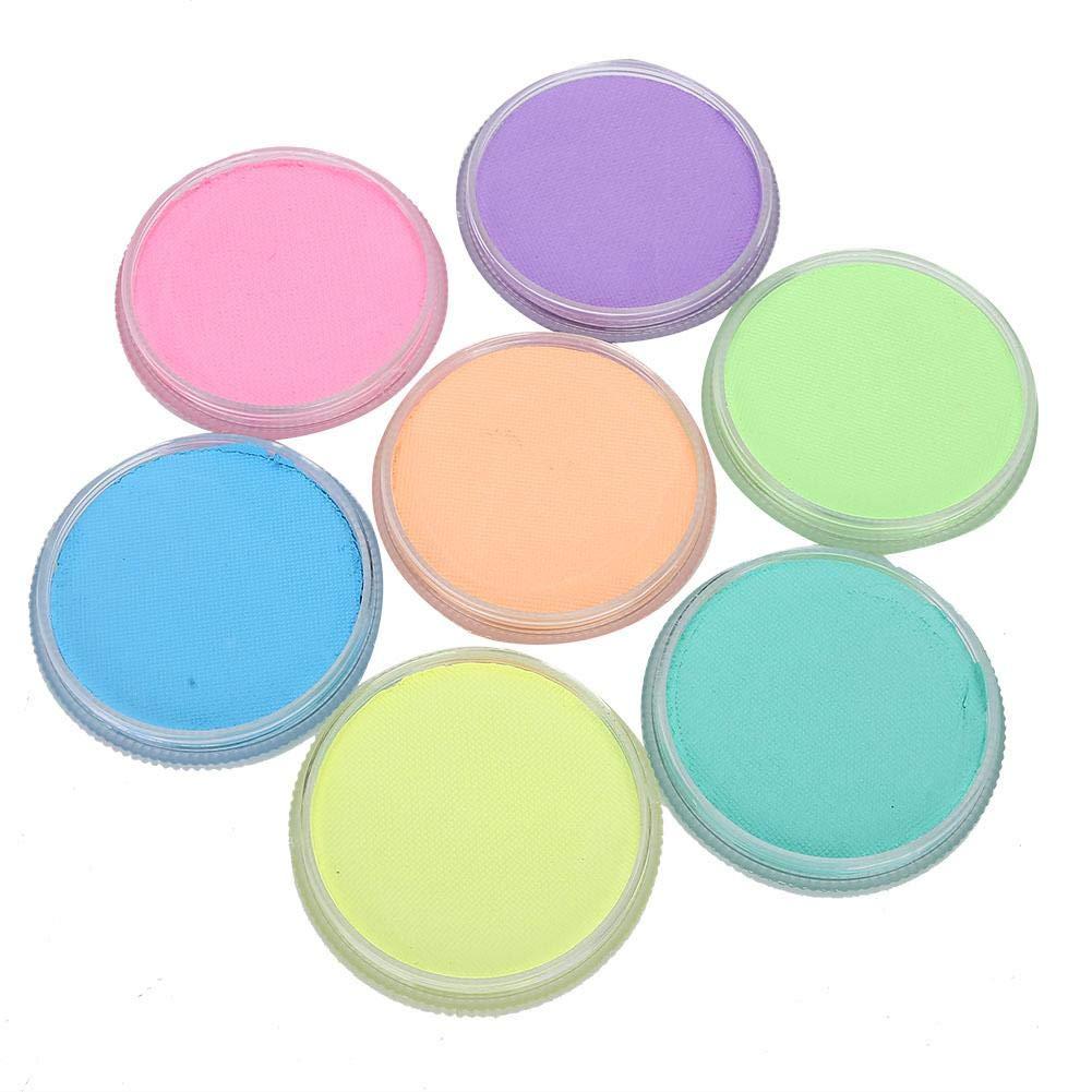 7 Fluorescent Color Face Paint Kit 30g DIY Body Paint Pigment Professional Face Paint Palette Party Halloween Makeup Face Body Paint Pigment