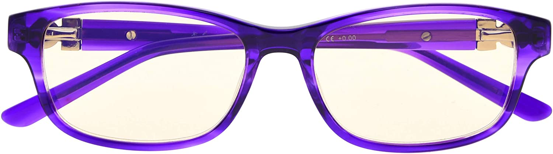 Anti Blue Rays Glasses for Women Reading UV Protection Computer Eyeglasses Acetate Frame