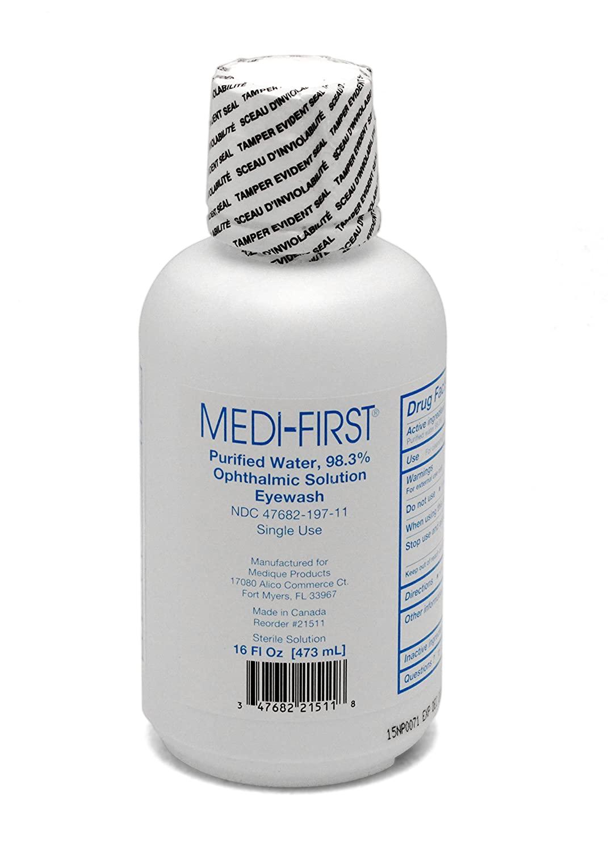 Buffered Eyewash Eye Care Body Wash 16 Oz. Bottle: 6 Each by Medique - MS55821