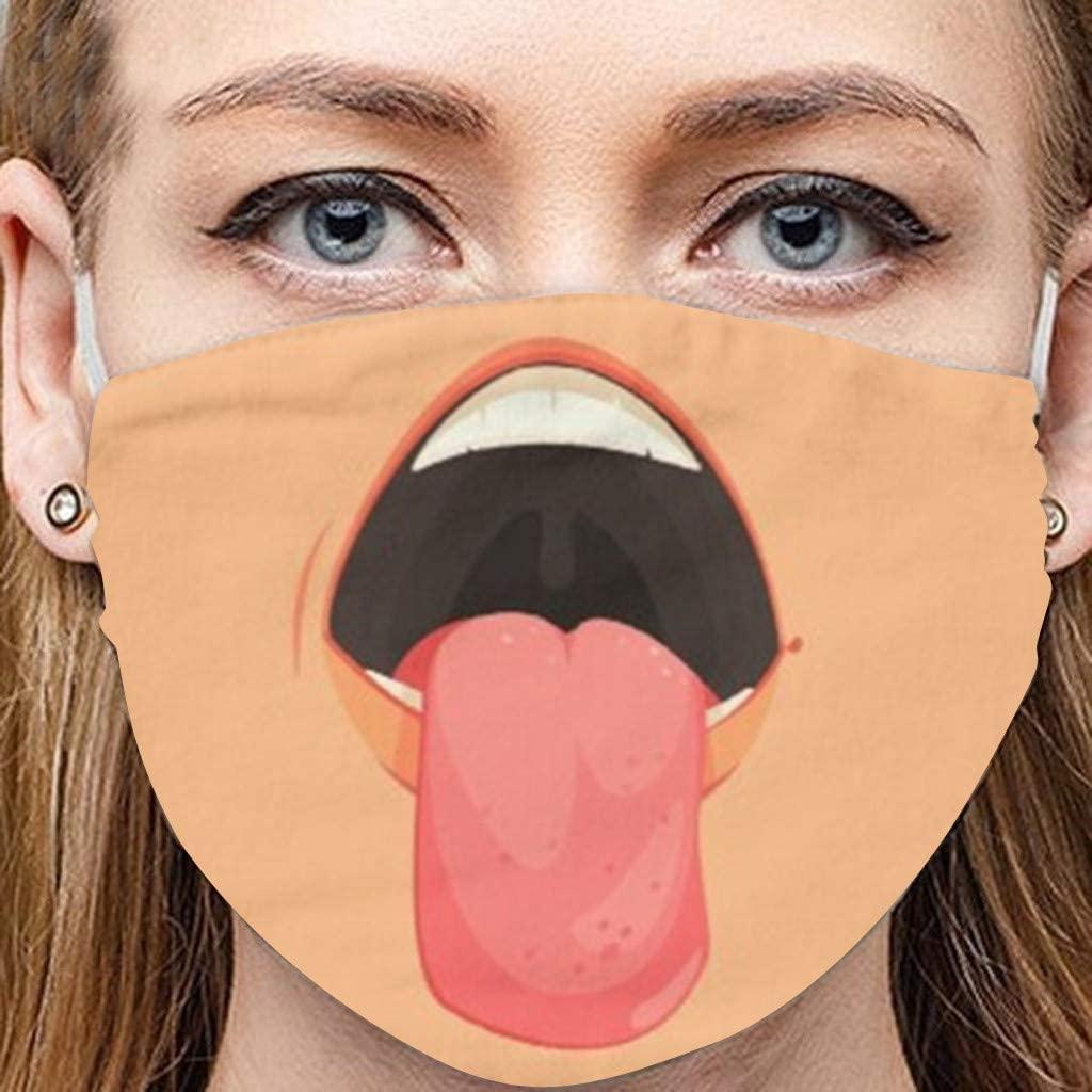1PCS Funny Printed Halloween Bandanas Adults Reusable Breathable Fashion Washable Sunscreen Cycling Adjustable Face_Mask