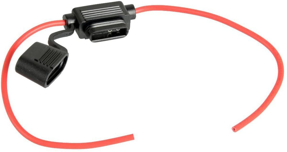 Pixnor 12V ATO ATC Add A Circuit Fuse Tap Piggy Back Standard Blade Fuse Holder Size S
