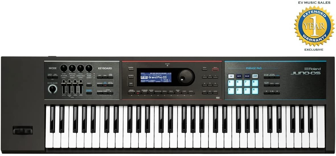 Roland JUNO-DS61 61-key Synthesizer with 1 Year Free Extended Warranty (Renewed)