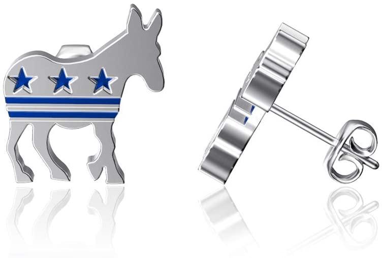 Dayna Designs Donkey Post Earrings - Enamel - Sterling Silver Jewelry Small for Women/Girls