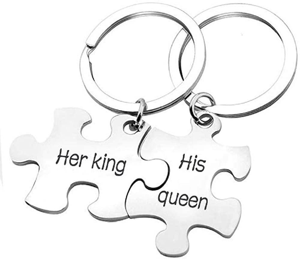 MJartoria BFF Keychain for 2, Best Friend Keychain, Side by Side Or Miles Apart Friendship Keychain Puzzle Piece Keychain Set Gifts for Women Teens