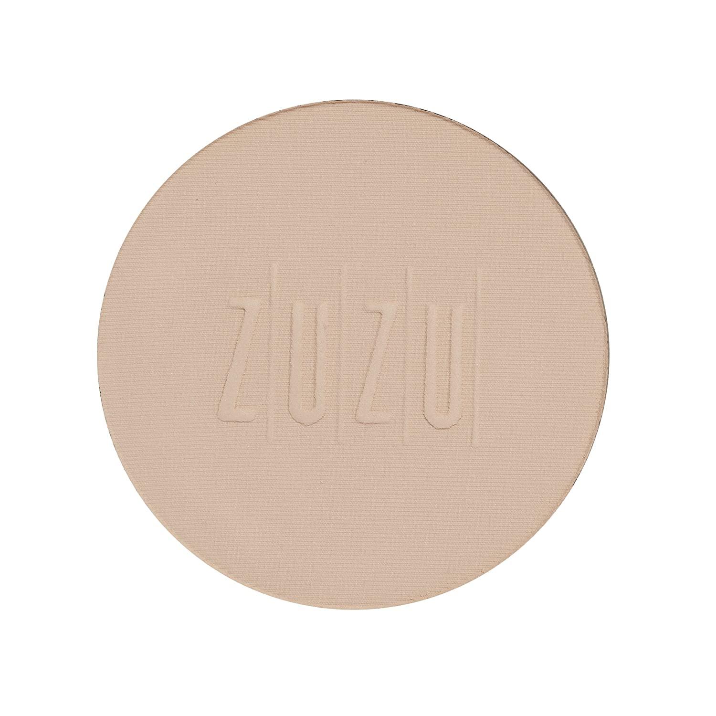ZUZU LUXE Dual Powder Foundation Refills 0.32 oz, Pressed mineral powder, medium to full coverage, natural finish. Natural, Paraben Free, Vegan, Gluten-free, Cruelty-free, Non GMO. (D 10 Refill)