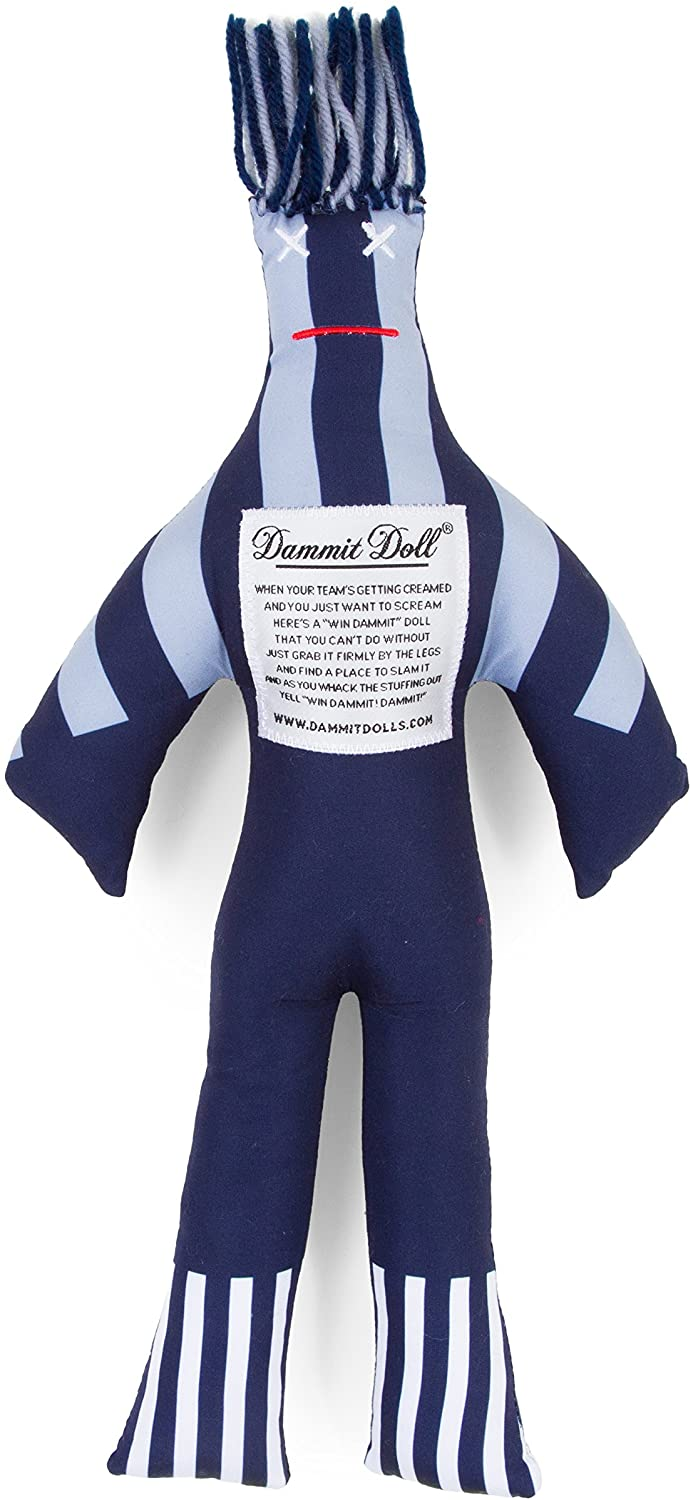 Dammit Doll - Win The Home Team - Blue & Silver - Stress Relief - Gag Gift - Sports Teams