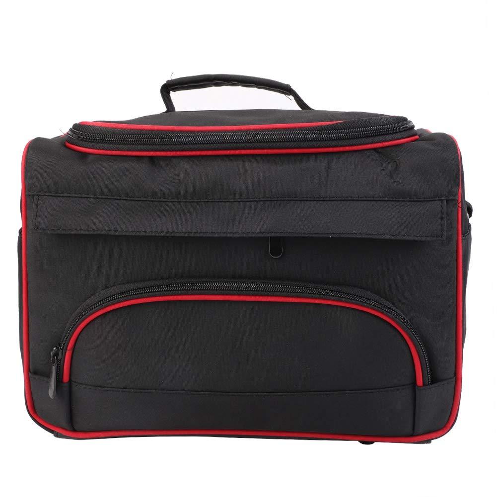 Large Storage Bag, Black Multi-function Portable Hairdressing Travel Home Hair Stylist Tool Bag