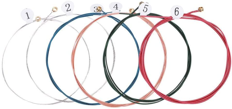 6Pcs Acoustic Guitar Strings Replacement Musical Instrument Replacement 010-048