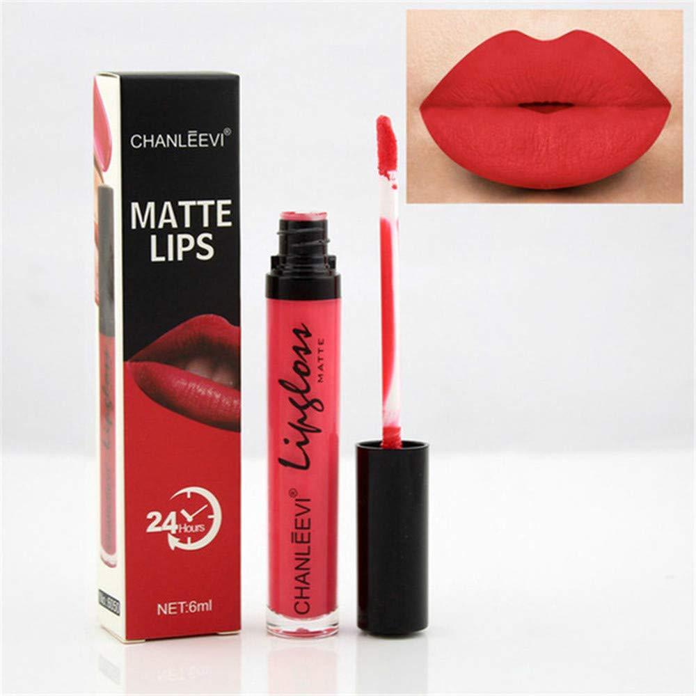 Liquid Lipstick Long Lasting Makeup Matte Lip Gloss Red Purple Velvet Pigment Lip Gloss Beauty (02)