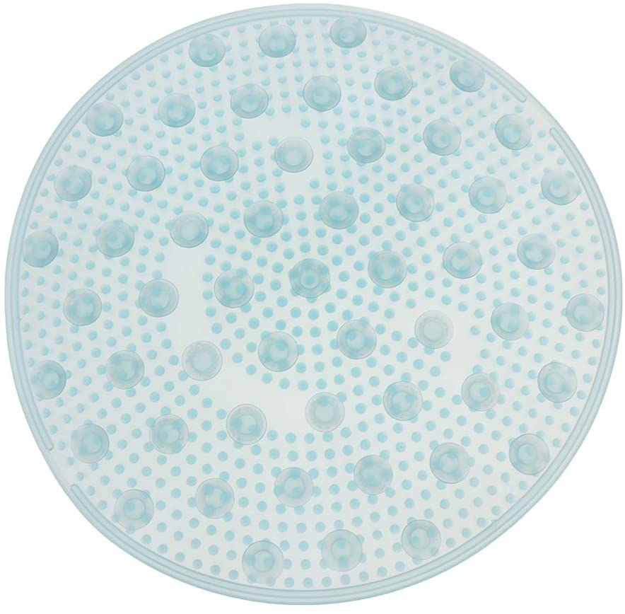 SUPVOX Shower Foot Cleaner Scrubber Exfoliation Increase Circulation Anti Slip Pad Bathroom Massage Tool Men Women Blue