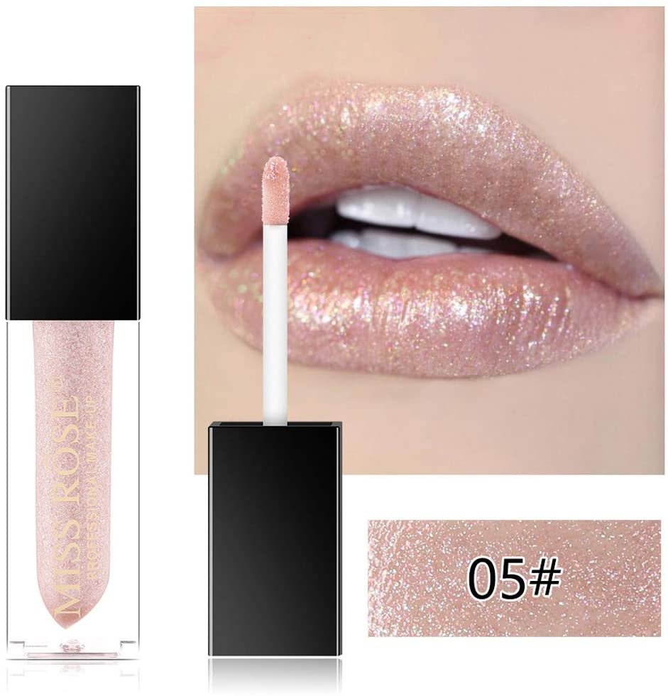 Ywoow Pearlescent Lip Gloss is Not Easy to Stick Cup Not Easy to Fade Waterproof