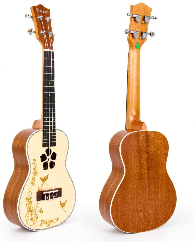 Ukulele 23 Inch Concert Acoustic Ukelele Hawaii Guitar Solid Spruce Uke (MI0714)