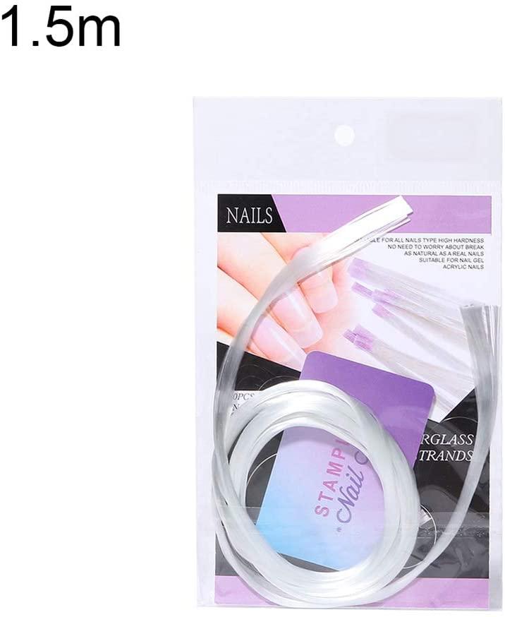 10Pcs Nail Extension Fiberglass Forms Builder UV Gel Polish Repairing Silk Wraps for Professional Nail Art - 1.5M