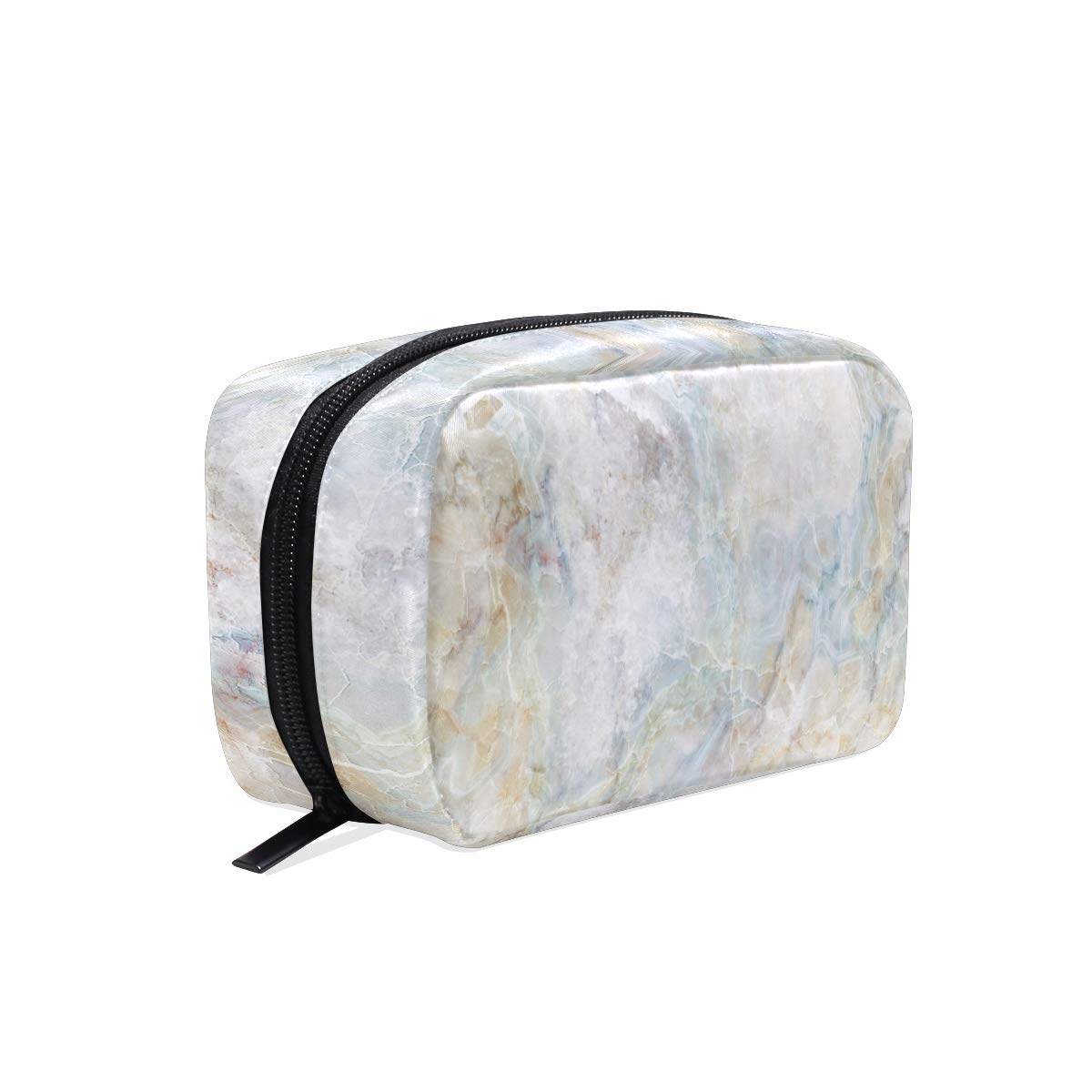 ALAZA Marble Stone Makeup Cosmetic Portable Pouch Bag Organizer Capacity Storage Bag Gift for Women Girls